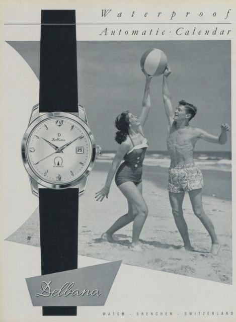 Delbana Watch Company 1959 Swiss Ad Grenchen Switzerland Horlogerie Suisse Advert