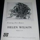 1965 Sculptor Helen Wilson Vintage 1965 Art Exhibition Ad Tasca Gallery
