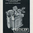 1958 Bechler Machine Company Vintage 1958 Swiss Ad Suisse Advert Horlogerie Horology