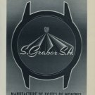 1956 S. Graber S.A. Company Renan 1956 Swiss Ad Suisse Advert Horlogerie Horology SGR