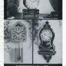 1950 Le Castel Wermeille & Co. Clock Company Switzerland Vintage 1950 Swiss Ad Suisse Advert
