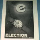 Election Watch Company Switzerland 1951 Swiss Ad Suisse Advert Horology Horlogerie
