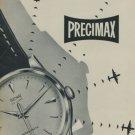 1957 Precimax Watch Company Switzerland Vintage 1957 Swiss Ad Suisse Advert Horlogerie