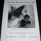 1965 Stanton Macdonald-Wright Vintage 1965 Art Exhibition Ad Advert Rose Fried Gallery, NY