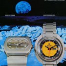 Atlantic Watch Company Bettlach Switzerland Vintage 1973 Swiss Ad Suisse Advert