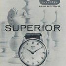 Wyler Watch Company Superior 1959 Swiss Ad Bienne Switzerland Suisse Advert Horology