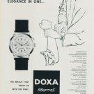 1958 Doxa Watch Company Doxa Stygmos Advert Vintage 1958 Swiss Ad Suisse Advert Horlogerie