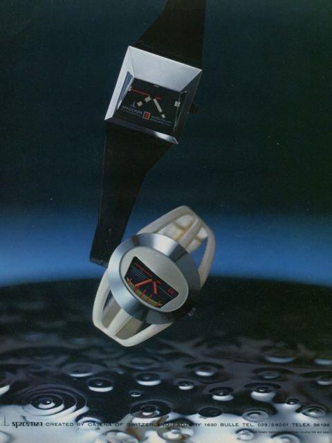 Catena Watch Company Spaceman Vintage 1973 Swiss Ad Suisse Advert Horlogerie