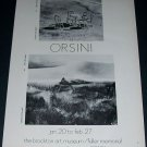 Orsini Vintage 1972 Art Exhibition Ad Brockton Art Museum / Fuller Memorial