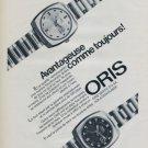 1973 Oris Watch Company Holstein Switzerland Vintage 1973 Swiss Ad Suisse Advert