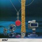 1973 RoWi Rodi & Wienenberger AG Pforzheim Germany 1973 Swiss Ad Suisse Advert Horology Horlogerie