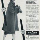 1958 Vulcain Watch Company Vulcain Cricket Golden Voice Advert Vintage 1958 Swiss Ad Suisse Advert