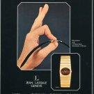 1977 Jean Lassale Watch Company Bouchet-Lassale 1977 Swiss Ad Publicite Suisse Montres Advert