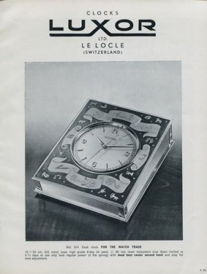 1956 Luxor Clock Company Le Locle Switzerland Vintage 1956 Swiss Ad Suisse Advert