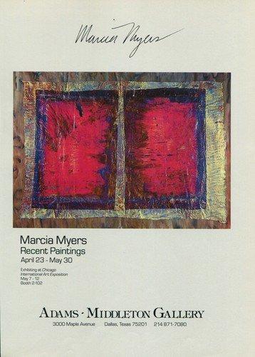Marcia Myers 1987 Art Exhibition Ad Advert Adams-Middleton Gallery, Dallas