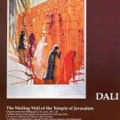 Dali The Wailing Wall Temple of Jerusalem 1980 Art Ad Advert Advertisement