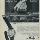 1959 Mido Watch Company Mido Waldorf Vintage 1959 Swiss Ad Suisse Advert Horlogerie Switzerland