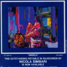 1980 Nicola Simbari Angela 1980 Art Ad Advert Advertisement