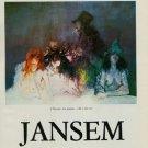 1980 Jansem L'Homme a la Poupee 1980 Art Exhibition Ad Publicite Advert Galerie Matignon, Paris