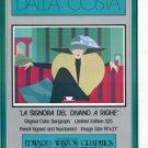 Dalla Costa 1980 Art Ad Publicite Advert La Signora Del Divano A Righe