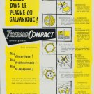 ThermoCompact Company 1956 Swiss Ad Suisse Advert DeRobert Geneva Switzerland