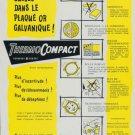 ThermoCompact Company 1956 Swiss Ad Suisse Advert DeRobert Geneva Switzerland