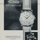 1959 Technos Watch Company Technos Atomium Ad Vintage 1959 Swiss Ad Suisse Advert Gunzinger Brothers