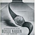 1950 Ulysse Nardin Watch Company Switzerland 1950 Swiss Ad Suisse Advert