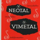 Neotal Vimetal S.A. Geneva Switzerland 1959 Swiss Print Ad Publicite Suisse Advert