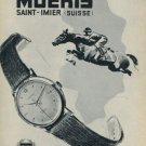 1956 Moeris Watch Company Saint-Imier Vintage 1956 Swiss Print Ad Publicite Suisse Montres