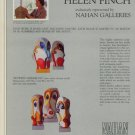 Sculptor Helen Finch 1980 Art Ad Advert Advertisement