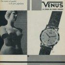 1959 Venus Watch Co Fils de Paul Schwarz-Etienne Swiss Print Ad Publicite Suisse Montres