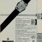 1956 Pronto Watch Company Le Noirmont Switzerland Original Swiss Print Ad Publicite Suisse Montres