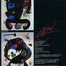 Joan Miro El Rei Garrell Merma 1980 Art Ad Publicite Advert Advertisement