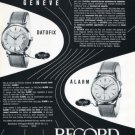 1956 Record Watch Company Switzerland Vintage 1956 Swiss Ad Suisse Advert Horology Geneve Geneva