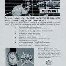Vintage 1956 Zenith Watch Co Switzerland Swiss Print Ad Suisse Publicite Montres Schweiz