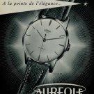 Aureole Watch Company 1956 Swiss Ad La Chaux-de-Fonds Switzerland Horology