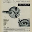 Vintage 1956 Blancpain Watch Co Rayville SA Switzerland Swiss Print AdSuisse Publicite Montres