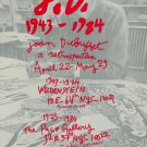 Jean Dubuffet 1987 Retrospective Art Exhibition Ad Publicite Advert Wildenstein and Pace Gallery