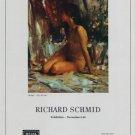 1969 Richard Schmid Vintage 1969 Art Exhibition Ad Publicite Advert Welna Gallery, Chicago Helga