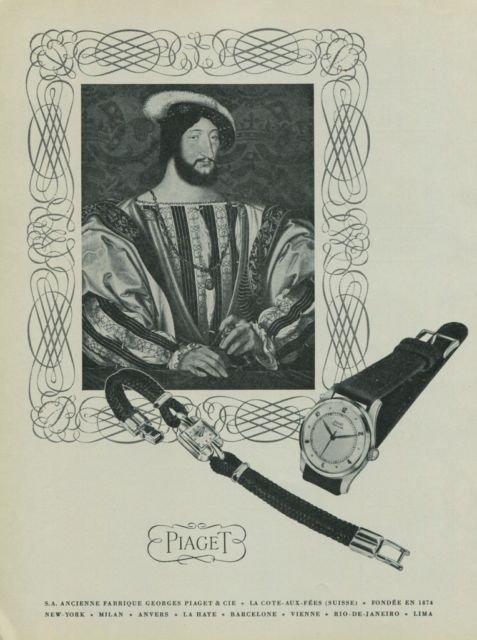 Vintage 1949 Georges Piaget & Cie SA Watch Co Swiss Print Ad Suisse Publicite Montres