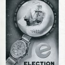 Vintage 1950 Election Watch Company Swiss Print Ad Suisse Publicite Montres Schweiz Suiza