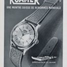 1956 Roamer Watch Company Switzerland Vintage 1956 Swiss Ad Suisse Advert Horlogerie Horology