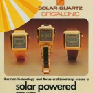 1977 Cristalonic Watch Company Germany Swiss Print Ad Suisse Publicite Montres Uhr Schweiz