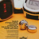 Ray-O-Vac Company Holland Vintage 1977 Swiss Ad Suisse Advert Horlogerie ESB Europe BV