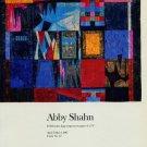 Abby Shahn 1987 Art Exhibition Ad Publicite Advert Advertisement