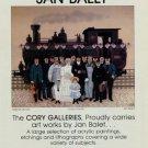 Jan Balet Union Pacific 1980 Art Exhibition Ad Publicite Advert Advertisement