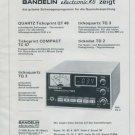 1977 Bandelin Electronic KG Germany Swiss Print Ad Suisse Publicite Schweiz Horlogerie Horology