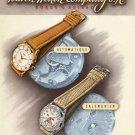Vintage 1950 Buren Watch Company Switzerland Swiss Print Ad Suisse Publicite Montres Schweiz Suiza