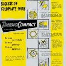 1956 ThermoCompact Derobert Switzerland Swiss Print Ad Suisse Publicite Themo Compact Horlogerie